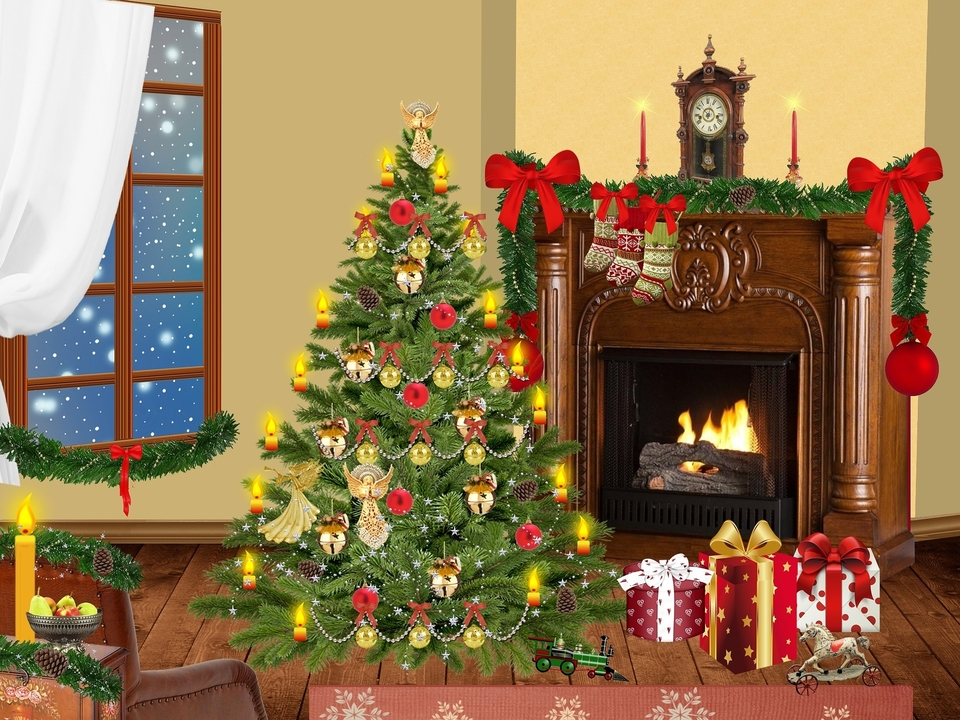 This Christmas.Deck The Halls And Not Your Fireplace This Christmas